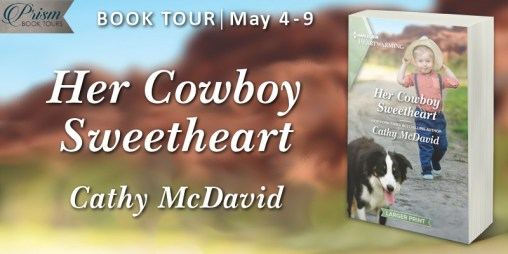 Her Cowboy Sweetheart blog tour banner provided by Prism Book Tours and is used with permission.