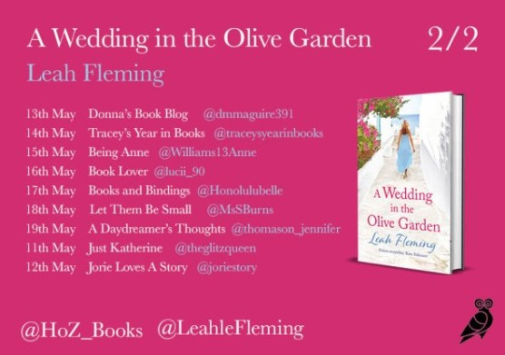 "Blog tour banner for ""The Wedding in the Garden"" provided by Head of Zeus and is used with permission."