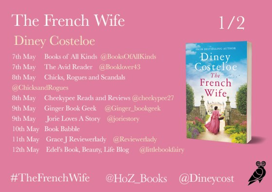 The French Wife blog tour banner provided by Head of Zeus and is used with permission.