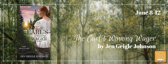 The Earl'sWInning Wager blog tour banner provided by Singing Librarian Book Tours and is used with permission.