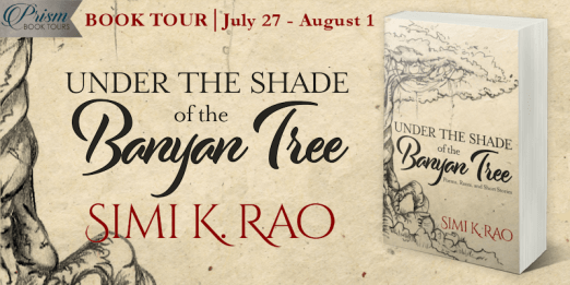Under the Shade of the Banyan Tree blog tour banner provided by Prism Book Tours and is used with permission.