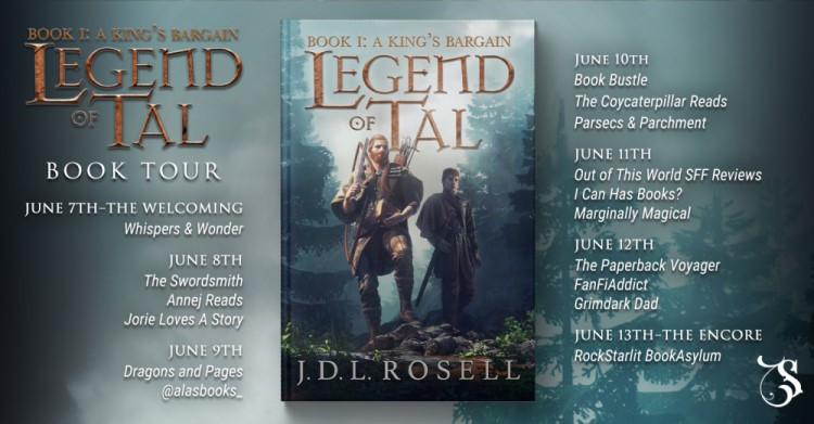A King's Bargain blog tour banner provided by Storytellers on Tour and is used with permission.
