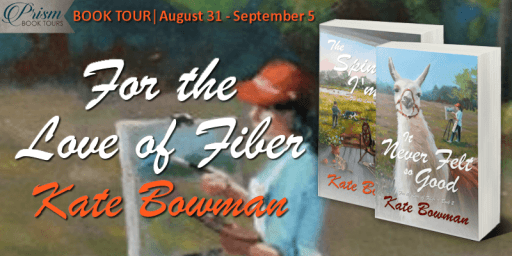 For the Love of Fiber series blog tour banner provided by Prism Book Tours and is used with permission.