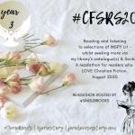 #CFSRS20 readathon badge created by Jorie in Canva.
