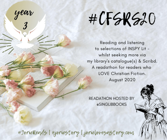 #CFSRS20 readathon badge created by Jorie in Canva.