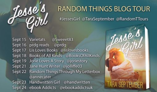 Jesse's Girl blog tour banner provided by Random Things Tours and is used with permission.