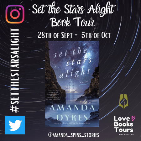Set the Stars Alight promo badge provided by Love Books Tours and is used with permission.