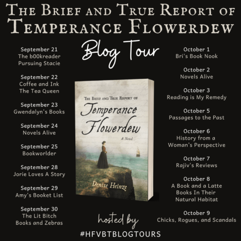 The Brief and True Report of Temperance Flowerdew blog tour banner provided by HFVBTs and is used with permission.
