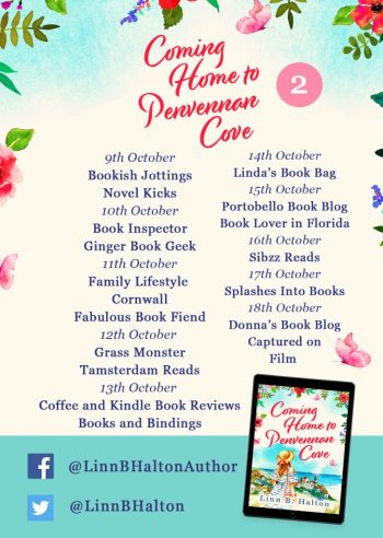 Coming Home to Penvennan Cove blog tour banner provided by Head of Zeus and is used with permission.