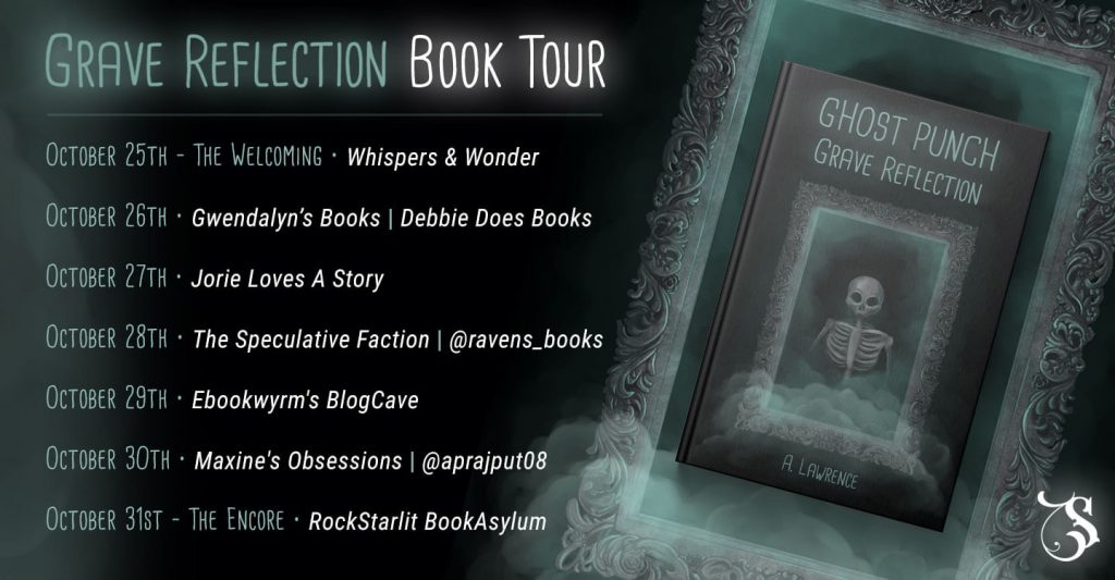 Grave Reflection blog tour banner provided by Storytellers on Tour and is used with permission.