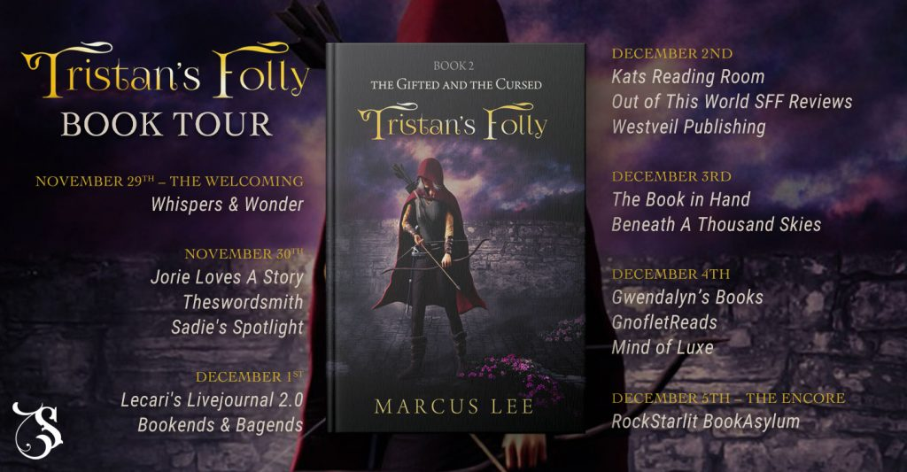 Tristan's Folly blog tour banner provided by Storytellers on Tour and is used with permission.