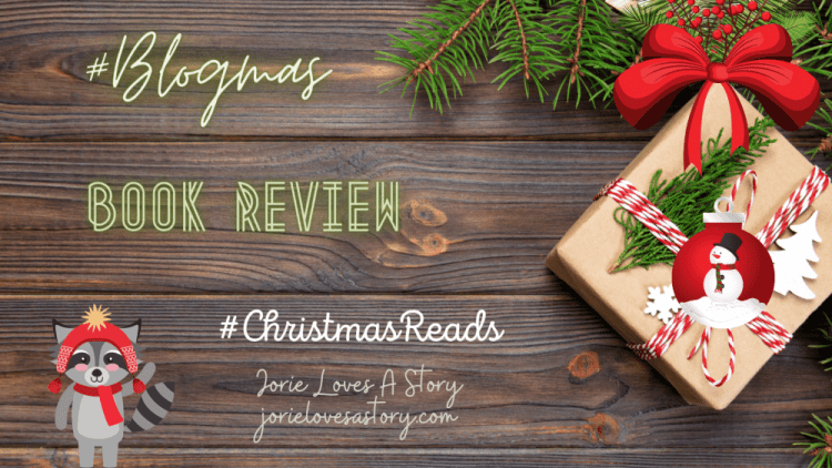 #blogmas book review banner created by Jorie in Canva.
