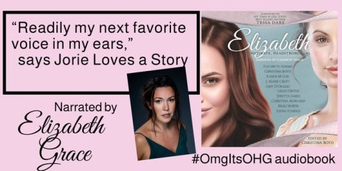 """Quote banner from jorielovesastory.com review for """"Elizabeth: Obstinate Headstrong Girl"""" provided by Christina Boyd."""