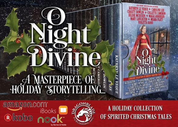 O Night Divine promo advert banner provided by Xpresso Book Tours and is used with permission.