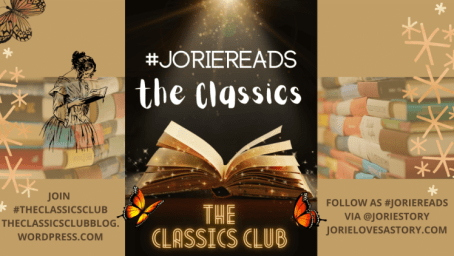 The Classics Club banner created by Jorie in Canva.