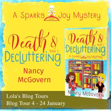 Death and Decluttering blog tour banner provided by Lola's Blog Tours and is used with permission.