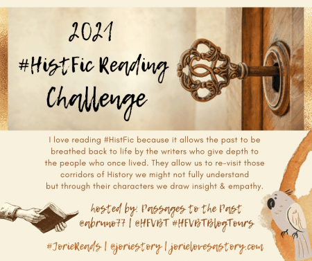 2021 HistFic Reading Challenge banner created by Jorie in Canva.
