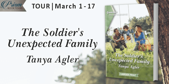 The Soldier's Unexpected Family blog tour banner provided by Prism Book Tours and is used with permission.