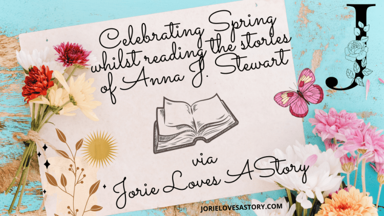Reading the stories of Anna J. Stewart banner created by Jorie in Canva.