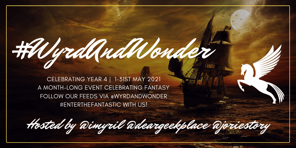 #WyrdAndWonder Year 4 banner created by Jorie in Canva.