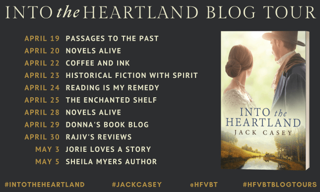 Into the Heartland blog tour banner provided by HFVBTs and is used with permission.