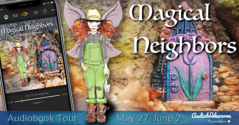 Magical Neighbours audio blog tour banner provided by Audiobookworm Promotions and is used with permission.
