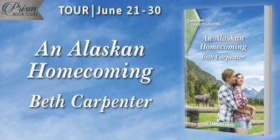 An Alaskan Homecoming blog tour banner provided by Prism Book Tours and is used with permission.