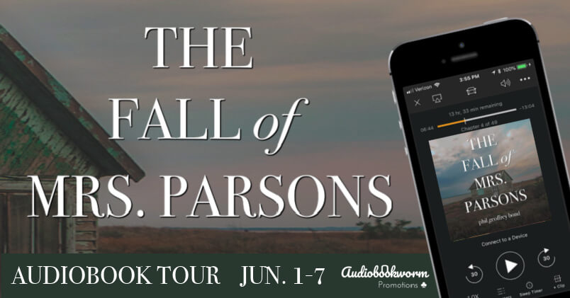 The Fall of Mrs Parson's audio blog tour banner provided by Audiobookworm Promotions and is used with permission.