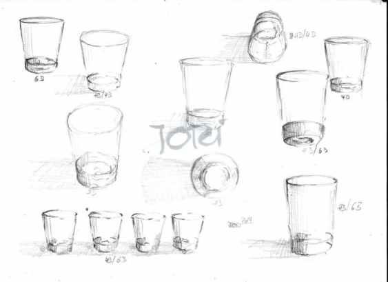 Gläser (Bleistift)