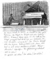 Bühnenbild Konzertpause 1 (Bleistift)