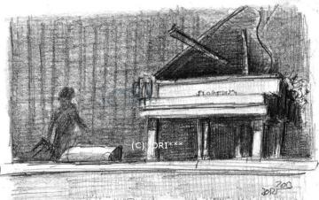 Bühnenbild Konzertpause 2 (Bleistift)