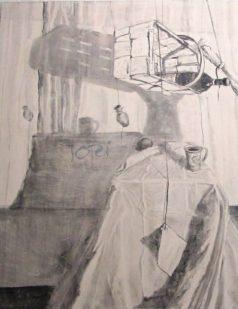 Tisch (Spanien in mir) 2 (Kohle)