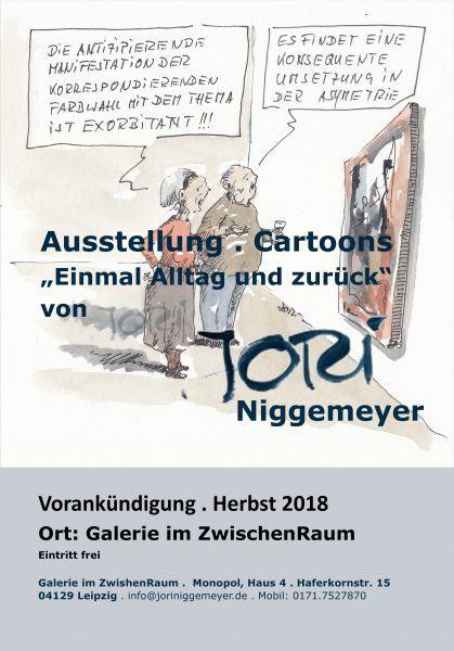 Vorankündigung Ausstellung Jori Cartoon