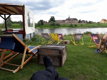 Sommerbar an der Elbe/Riesa . 2018