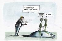 Willkommenskultur: Anom & Alien zu Besuch