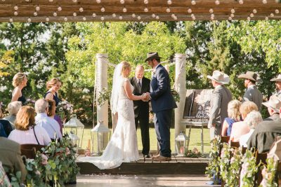 Rustic chic outdoor Lubbock Texas wedding ceremony. Cotton Creek Barn. Flowers and Planning by Jessica Ormond Events. Photography by Allee J Photot