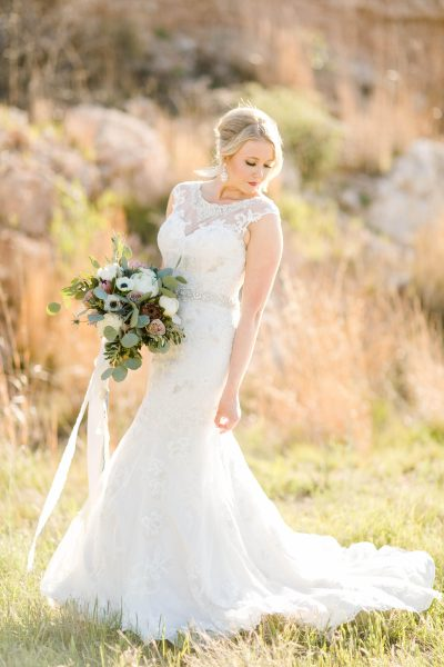 Ransom Canyon Bridal Portraits by Allee J. Bouquet by West Texas Florist Jessica Ormond Events.