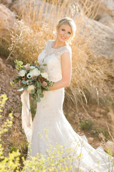 Southwest Bridal Portraits by Allee J. Bouquet by Lubbock wedding florist Jessica Ormond Events.
