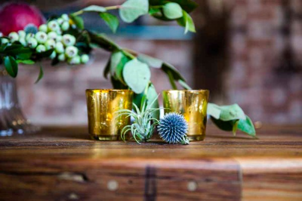 Airplant and thistle details. Wedding designer Jessica Ormond Events. Photographer Caitlin and Ryan Photography.