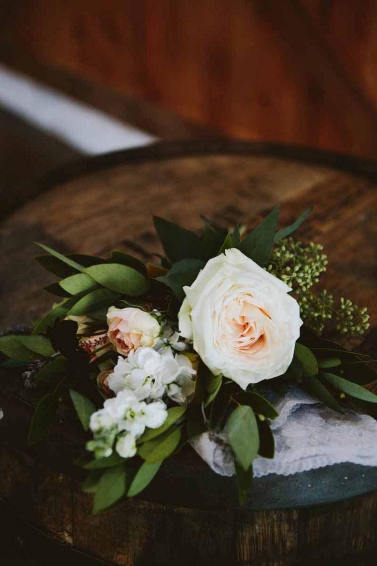 Petite garden rose bridesmaid bouquet designed by Texas Florist Jessica Ormond Events. Image by Ashley J Photograhpy.
