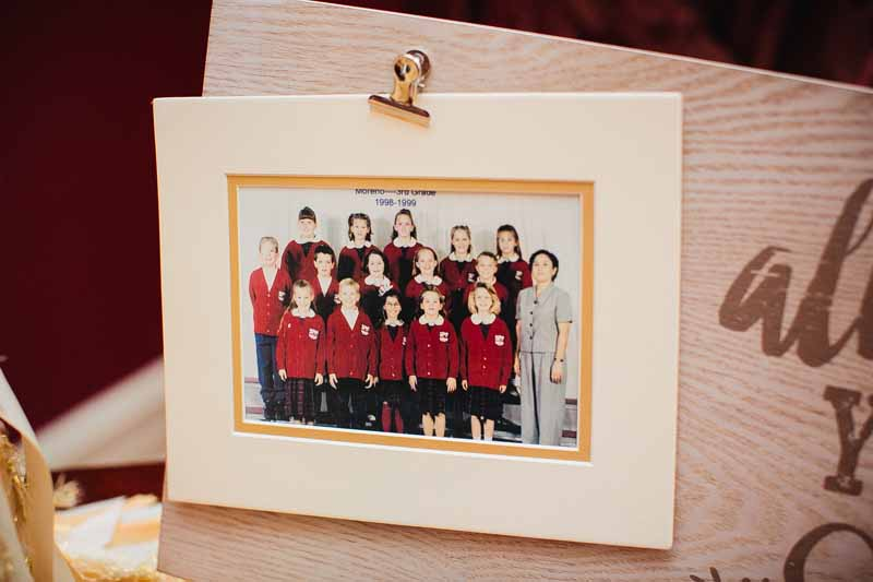 Bride and Groom's 3rd grade class photo. Photo by Betsy. Texas Wedding Planner Jessica Ormond Events.