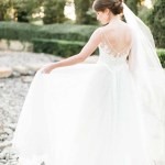 Elegant bride in European style garden. Emily Koontz Photography