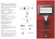Folleto II Jornadas de Archivos Privados