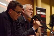 Jordi Folgado (Director general de la FVF) i Eduard Bertran (director de l'IEFC) presentando les Jornades. © Joan Ribó