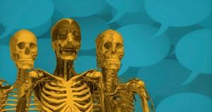 Intestino grosso é representado como uma moldura para o delgado