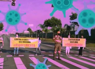 Ação de conscientização do isolamento social em Paraisópolis, zona sul de São Paulo - Foto: PMSP