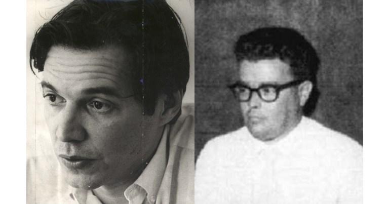 Os compositores Tom Jobim e Newton Mendonça