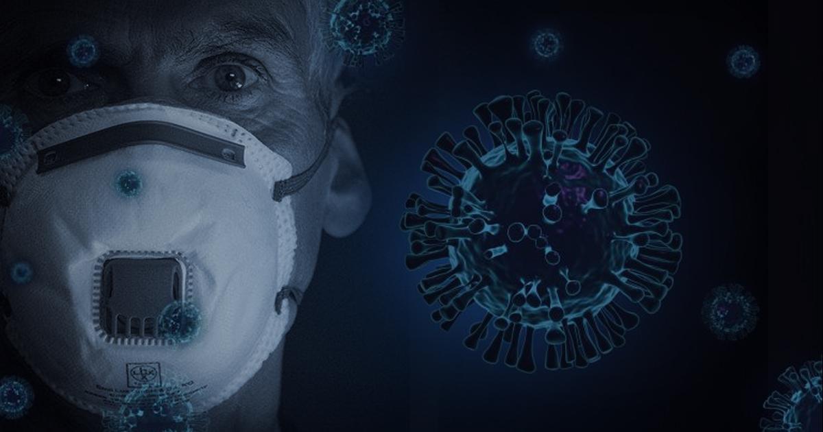 Hipótese foi levantada por pesquisadores da USP com base em levantamento epidemiológico com 1.744 casais brasileiros mostra que homens são os principais transmissores do vírus da COVID-19 - Arte sobre foto Pixabay via Agência Fapesp/CC-BY-NC-ND