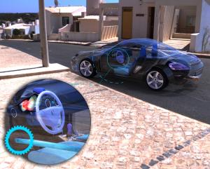 Invenção prometer acabar com danos a rodas, carro ilustrativo, criação de projetos, estacionamento