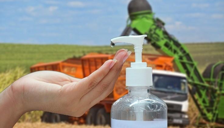 Usinas de cana-de-açúcar doam um milhão de litros de álcool 70% aos estados